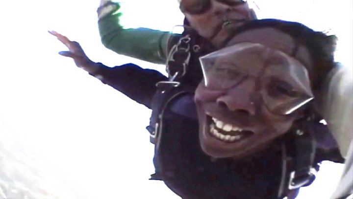 This photo was captured mid-air during my June 2011 skydive. I survived. Whew.